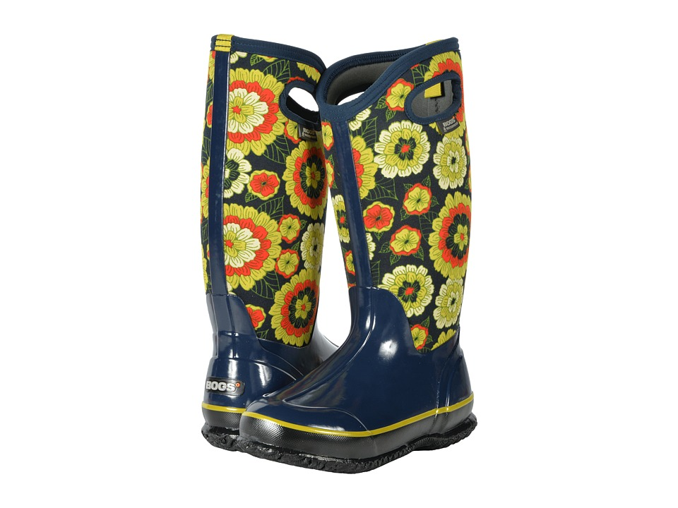 Bogs Classic Tall (Royal Multi Pansies) Women
