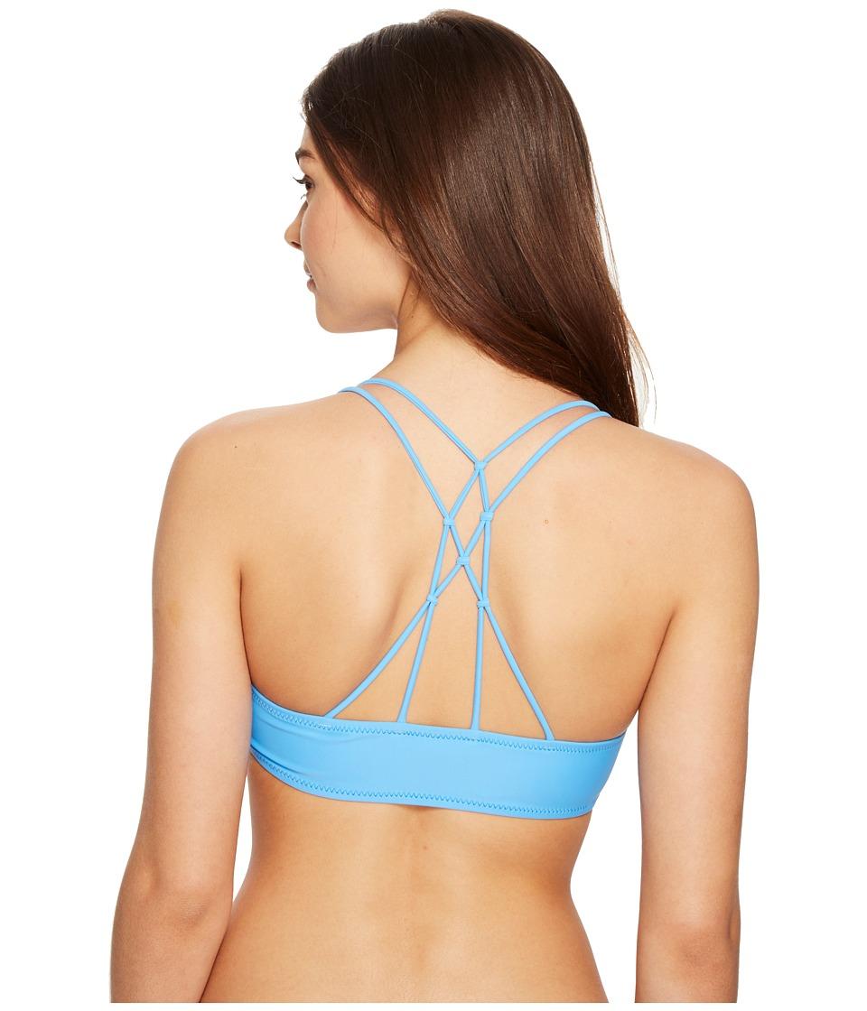 Volcom - Simply Solid V-Neck Top (Coastal Blue) Women's Swimwear