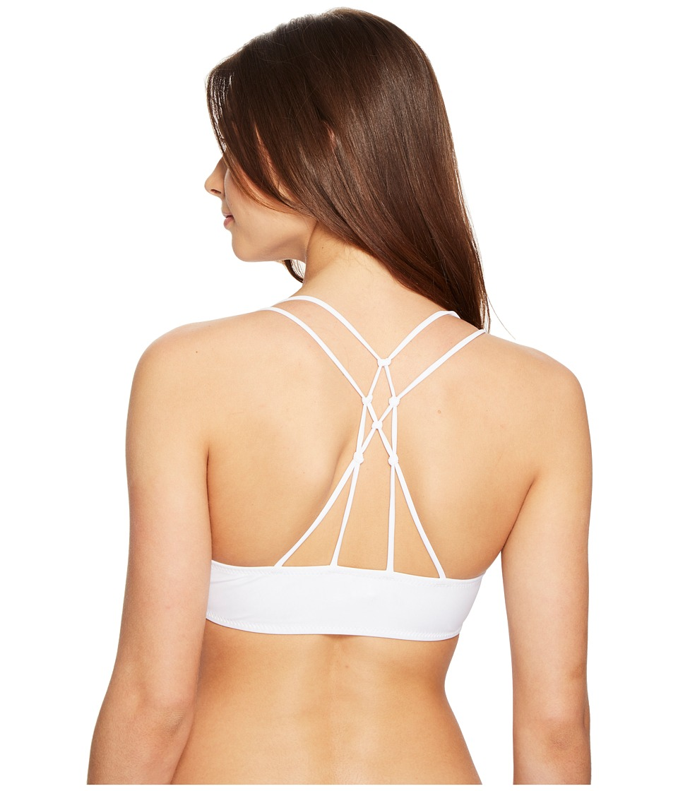 Volcom - Simply Solid V-Neck Top (White) Women's Swimwear