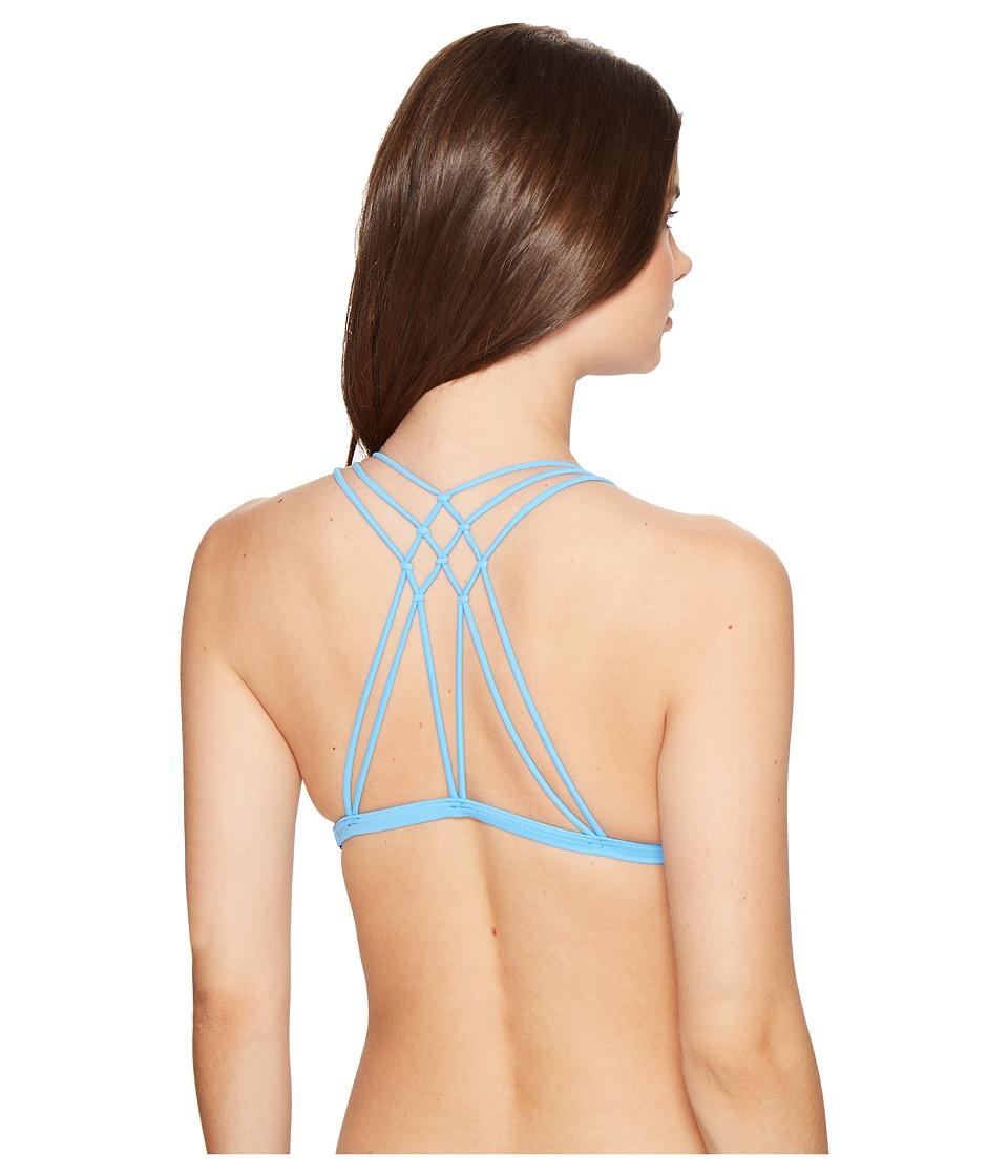 Volcom - Simply Solid Halter Top (Coastal Blue) Women's Swimwear