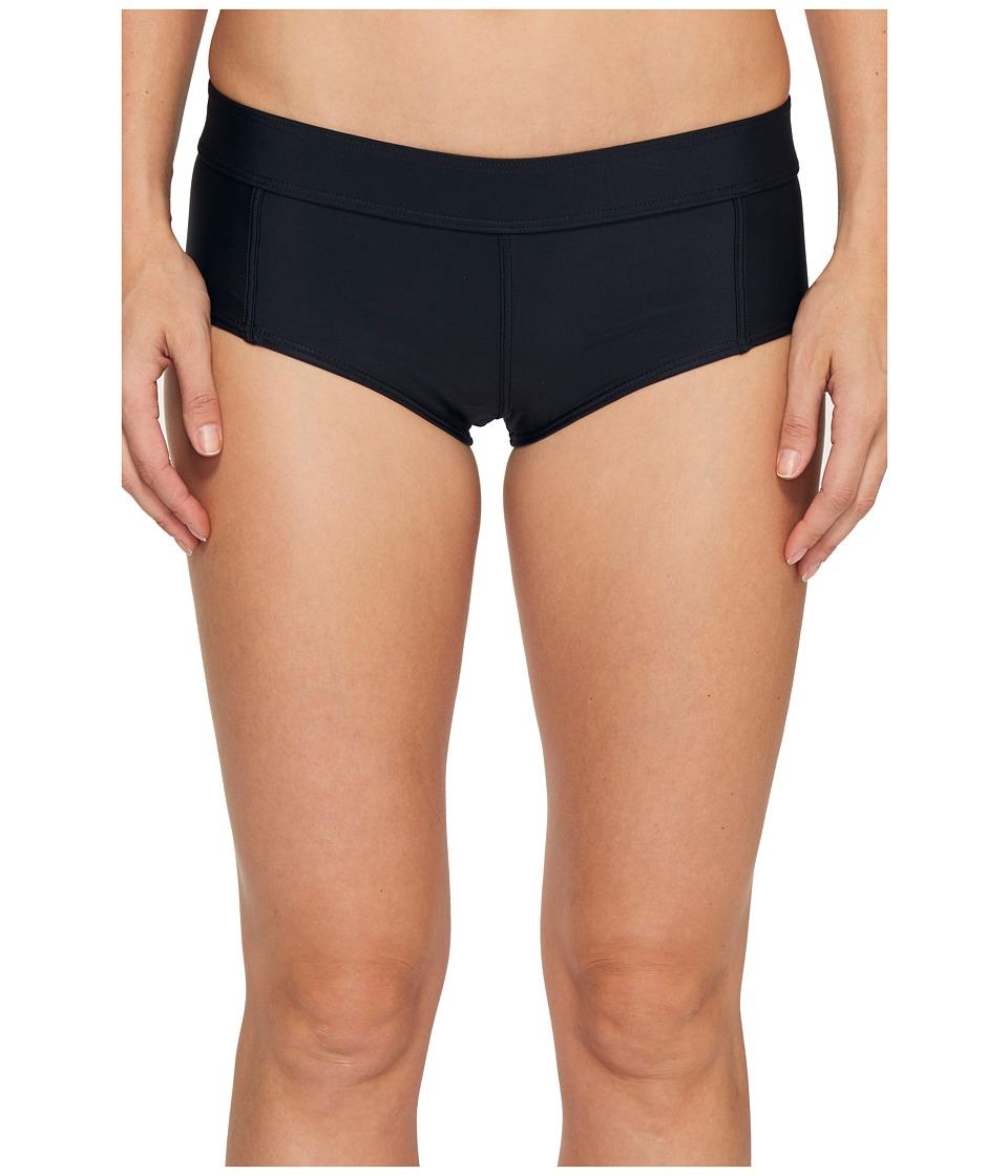 Volcom - Simply Solid Boy Cut Bottom (Black) Women's Swimwear