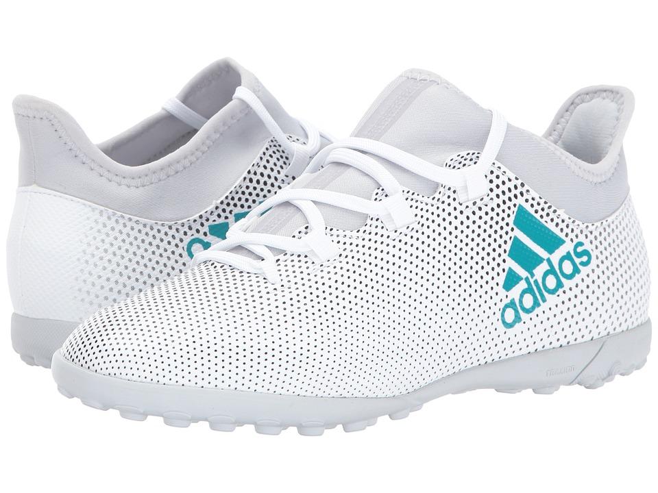 adidas Kids X Tango 17.3 TF J (Little Kid/Big Kid) (Footwear White/Energy Blue/Core Black) Kids Shoes