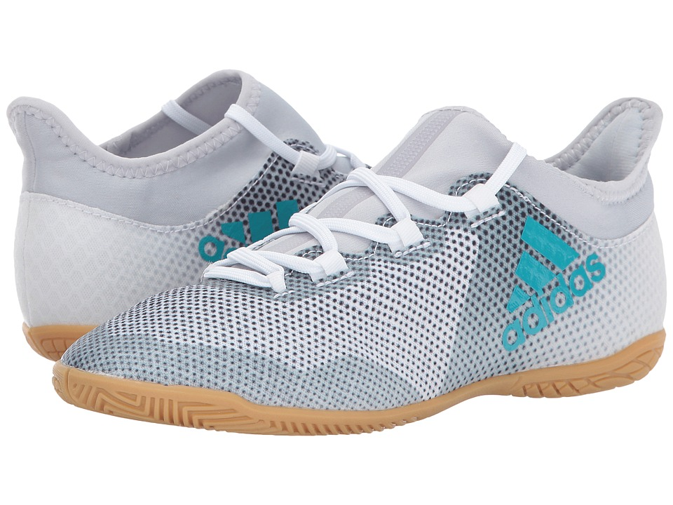 adidas Kids X Tango 17.3 IN J Soccer (Little Kid/Big Kid) (Footwear White/Energy Blue/Core Black) Kids Shoes