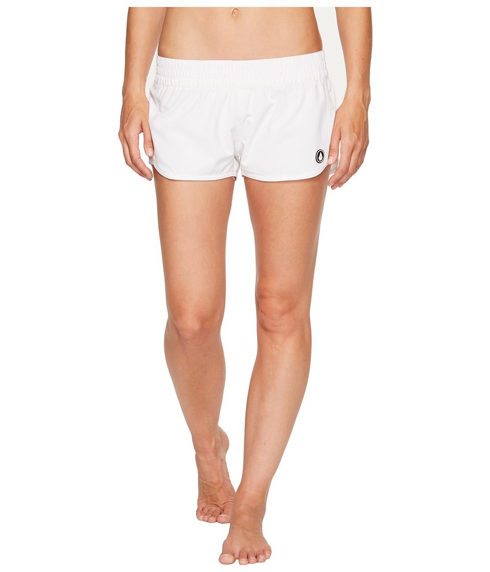 Volcom - Simply Solid 2 Boardshorts (White) Women's Swimwear