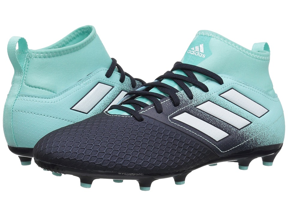 adidas Kids Ace 17.3 FG J Soccer (Little Kid/Big Kid) (Energy Aqua/Footwear White/Legend Ink) Kids Shoes
