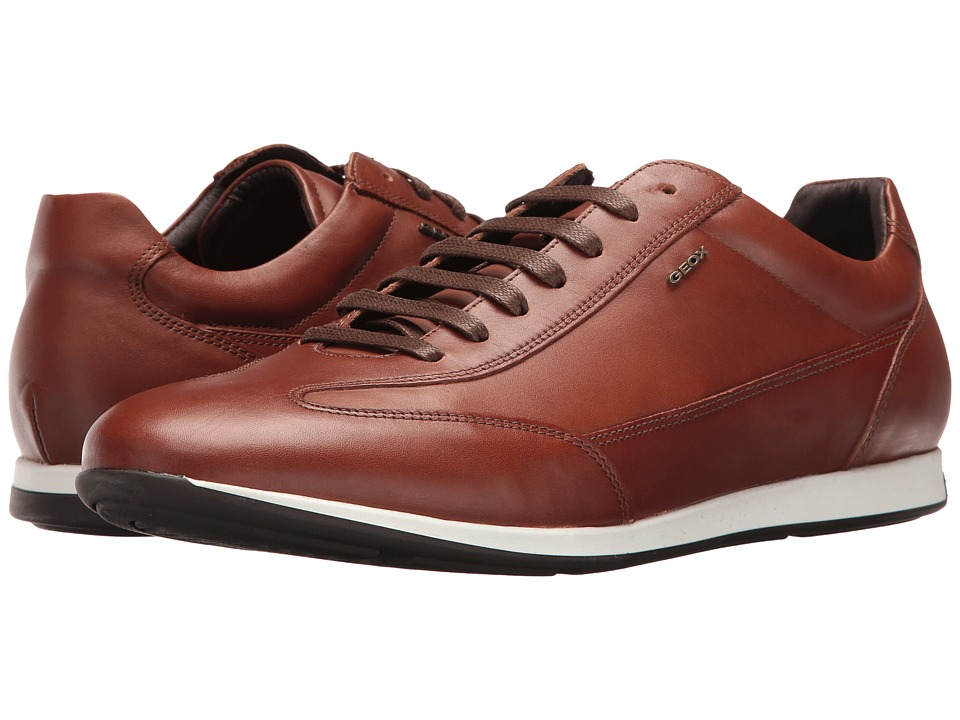 Geox M CLEMET 1 (Cognac) Men's Lace up casual Shoes