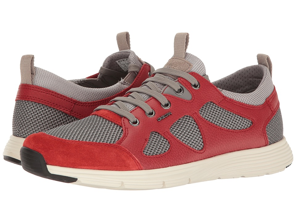 Geox - M SNAPISH 1 (Rock/Red) Men's Lace up casual Shoes