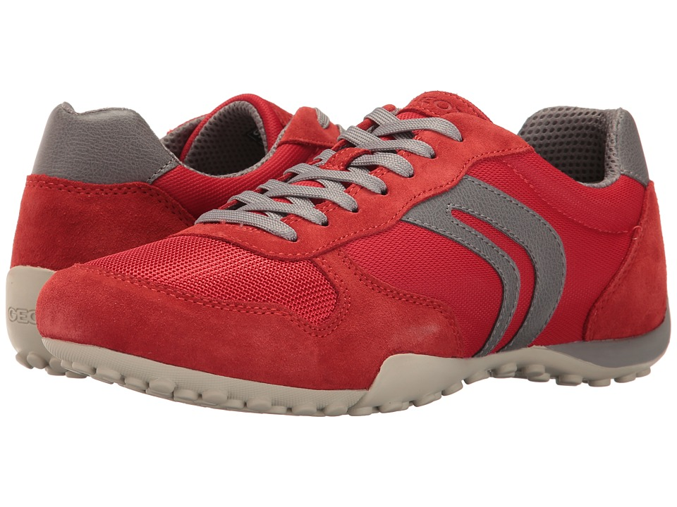 Geox - M SNAKE 118 (Red/Grey) Men's Shoes