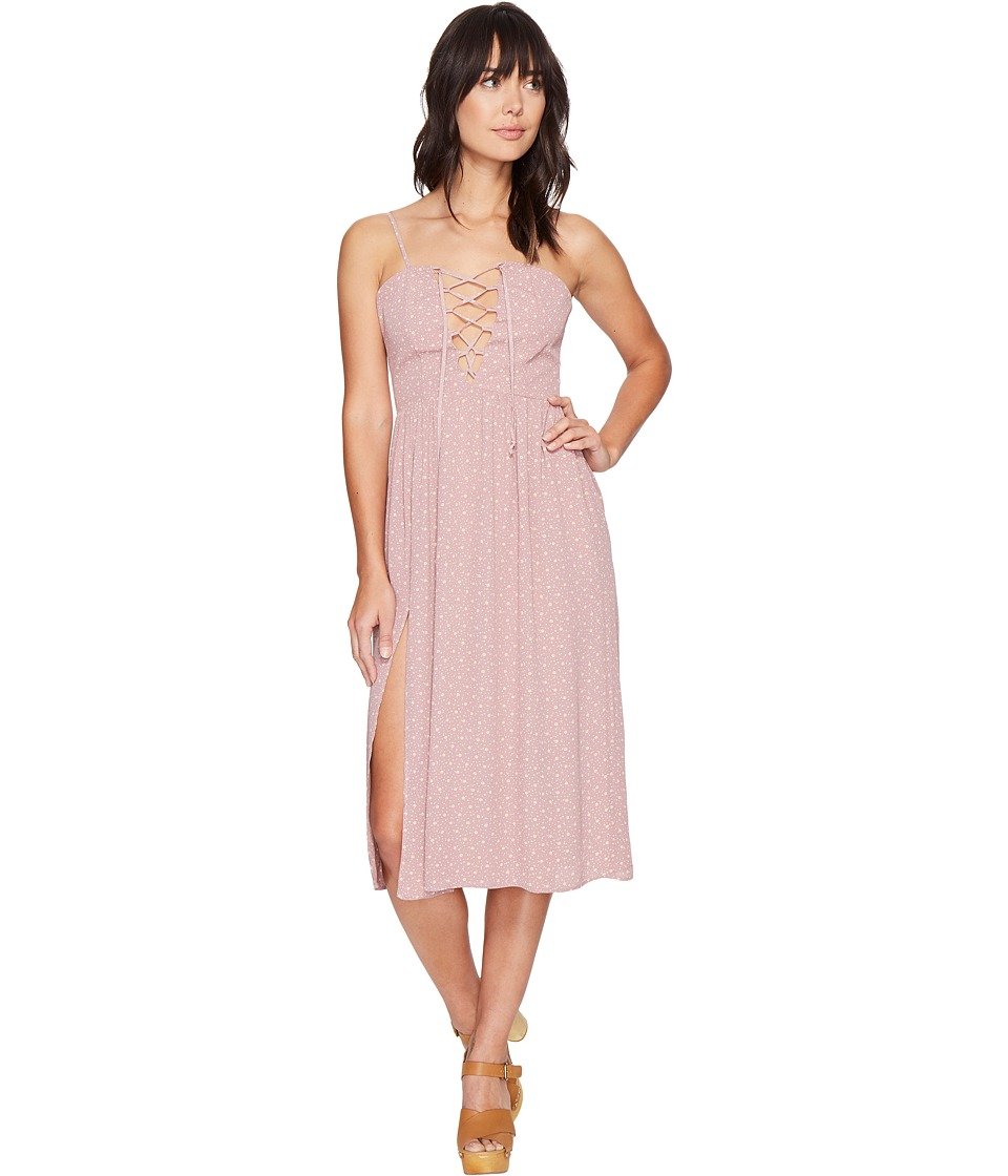 Flynn Skye - Mara Midi Dress (Mauve Cluster) Women's Dress