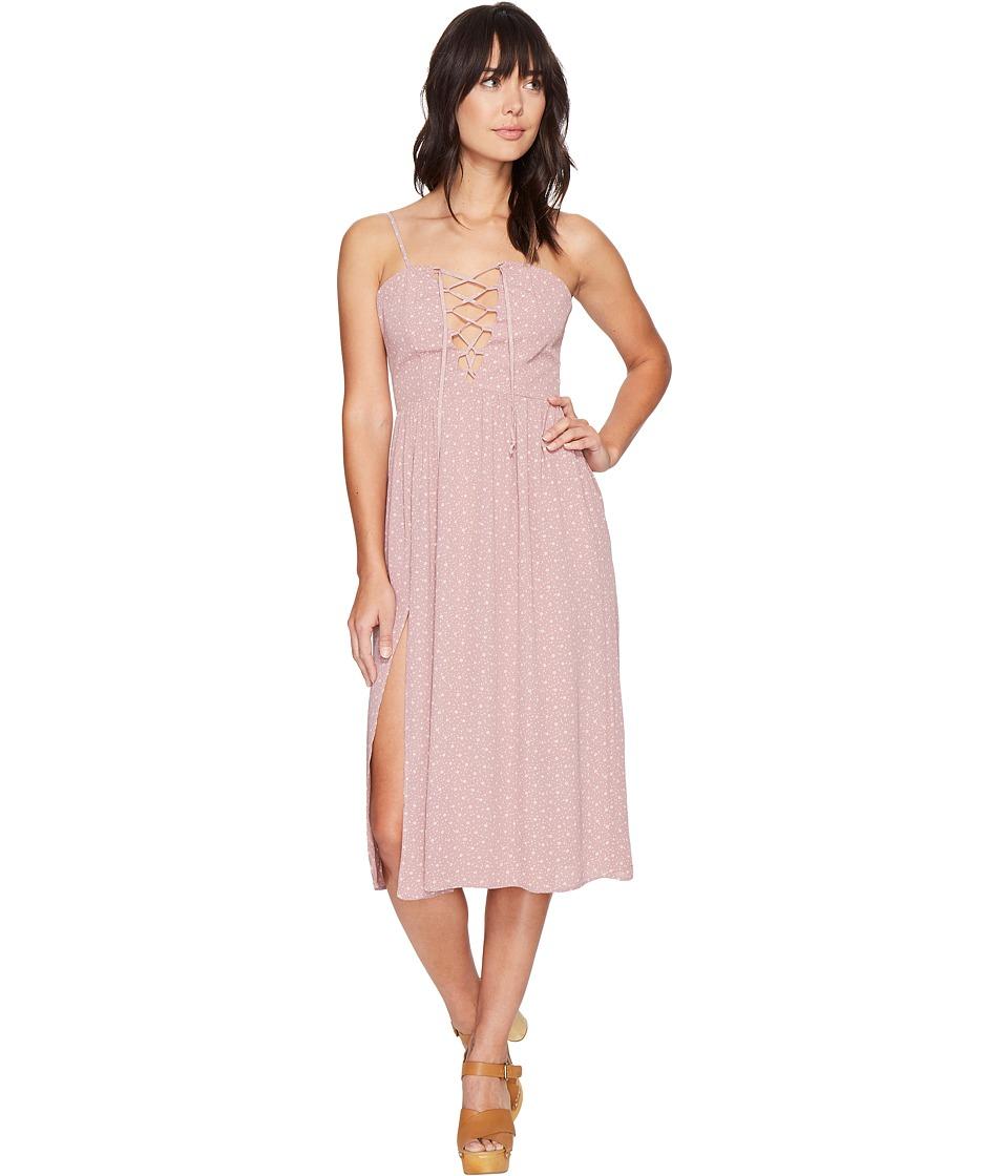 Flynn Skye - Mara Midi Dress (Mauve Cluster) Women's Dress