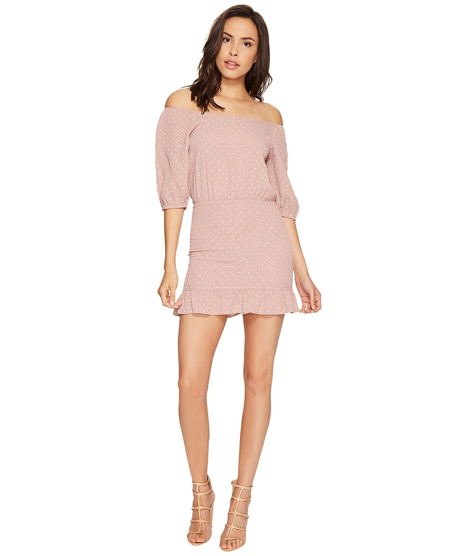 Flynn Skye - Kristina Mini Dress (Mauve Cluster) Women's Dress