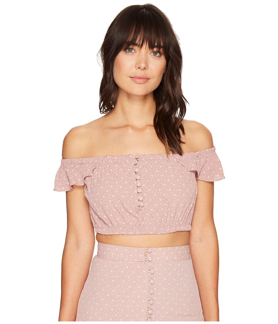 Flynn Skye - Tori Top (Mauve Cluster) Women's Clothing