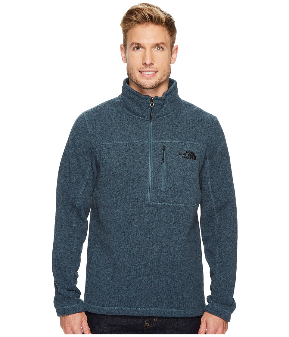 The North Face - Gordon Lyons 1/4 Zip (Conquer Blue Heather) Men's Long Sleeve Pullover
