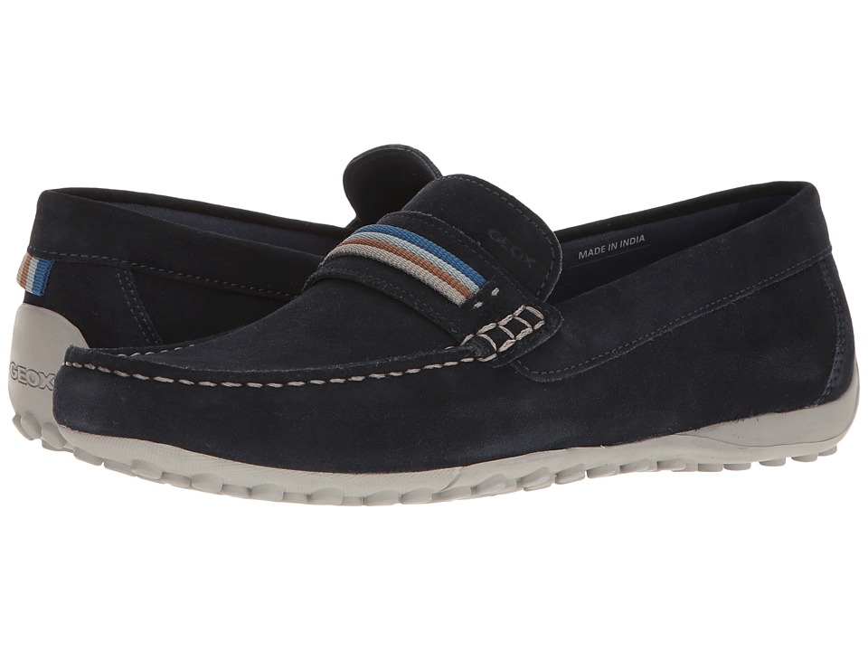 Geox - M SNAKE MOC 14 (Navy) Men's Slip on Shoes