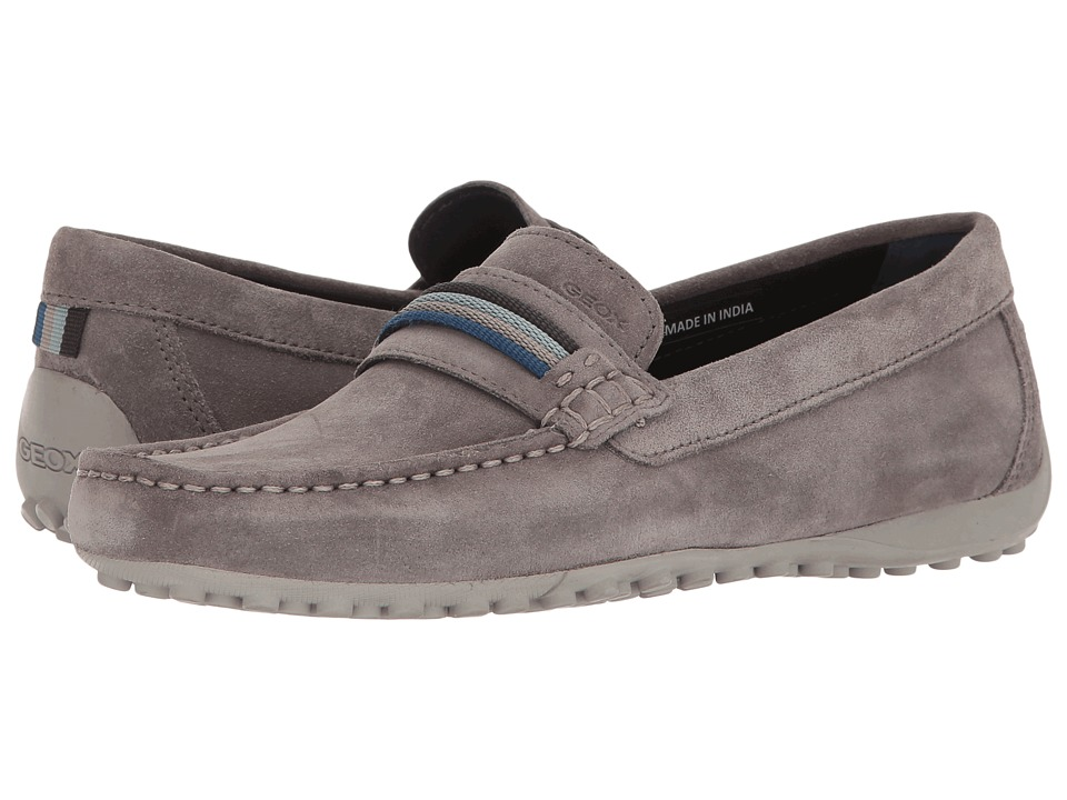 Geox - M SNAKE MOC 14 (Anthracite) Men's Slip on Shoes