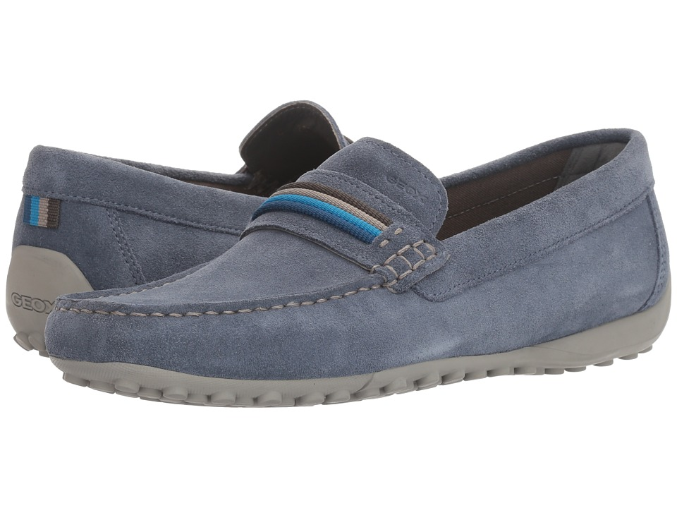 Geox - M SNAKE MOC 14 (Light Navy) Men's Slip on Shoes