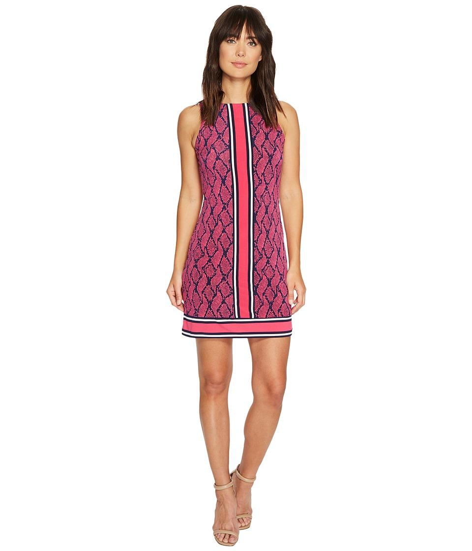 MICHAEL Michael Kors Graphic Mamba Border Dress (Electric Pink) Women