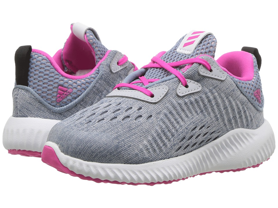 adidas Kids - Alphabounce EM I (Toddler) (Clear Grey/Shock Pink/Tactile Blue) Girls Shoes