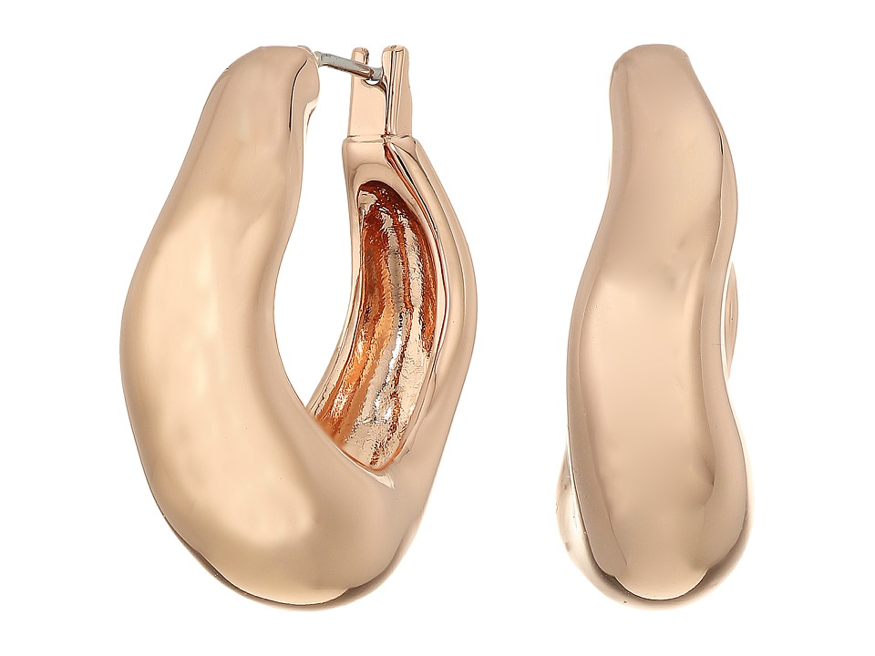 Robert Lee Morris - Small Sculptural Hoop Earrings (Rose Gold) Earring