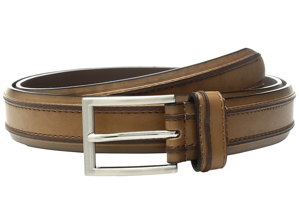 Florsheim - Saddle Leather Belt (Saddle Tan) Men's Belts