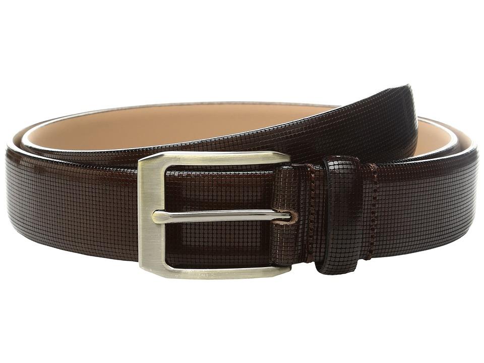 Florsheim - Polished Leather Belt (Brown) Men's Belts