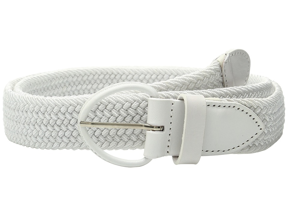 Florsheim - Kepper Woven Belt (White) Men's Belts