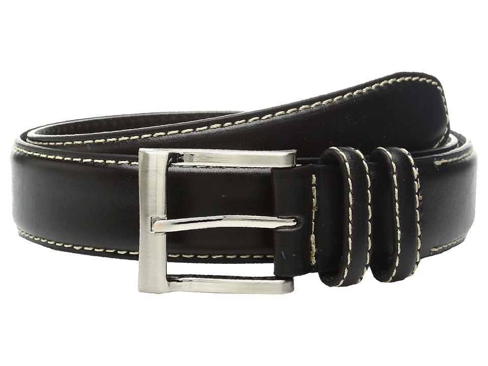 Florsheim - 32mm Full Grain Leather Belt (Black) Men's Belts