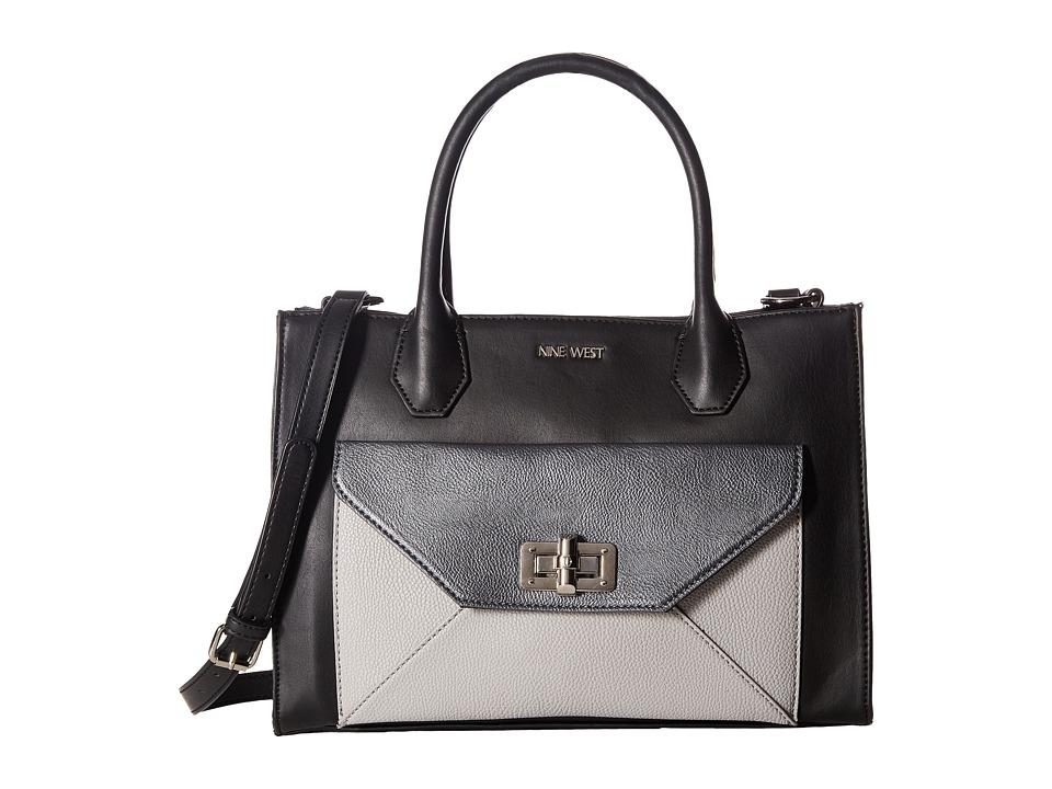 Nine West - In The Fold (Black/Black) Handbags