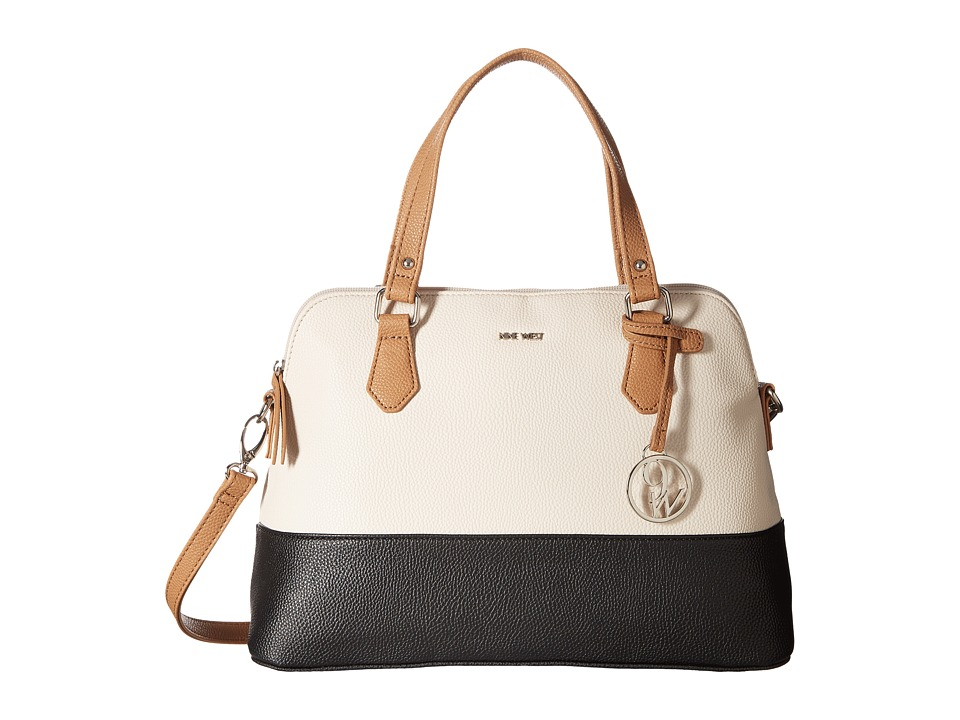 Nine West - Dealing Times (Milk/Black/Dark Camel) Handbags
