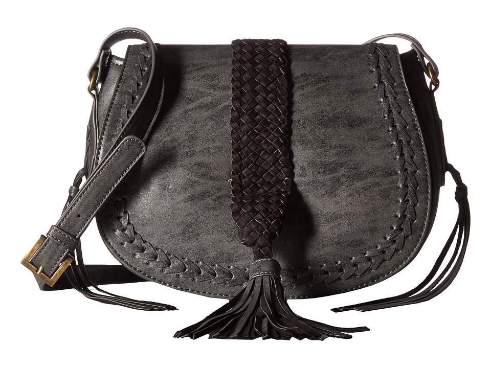 Steven - Braided Saddle Bag (Black) Handbags