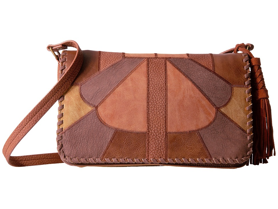 Steven - Vintage Patchwork Flapover with Genuine Suede Tassel (Spice) Handbags