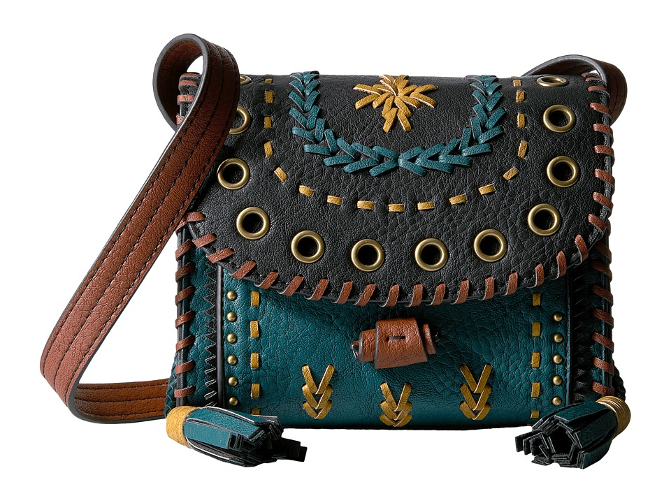 Steven - Embellished Crossbody (Teal) Cross Body Handbags