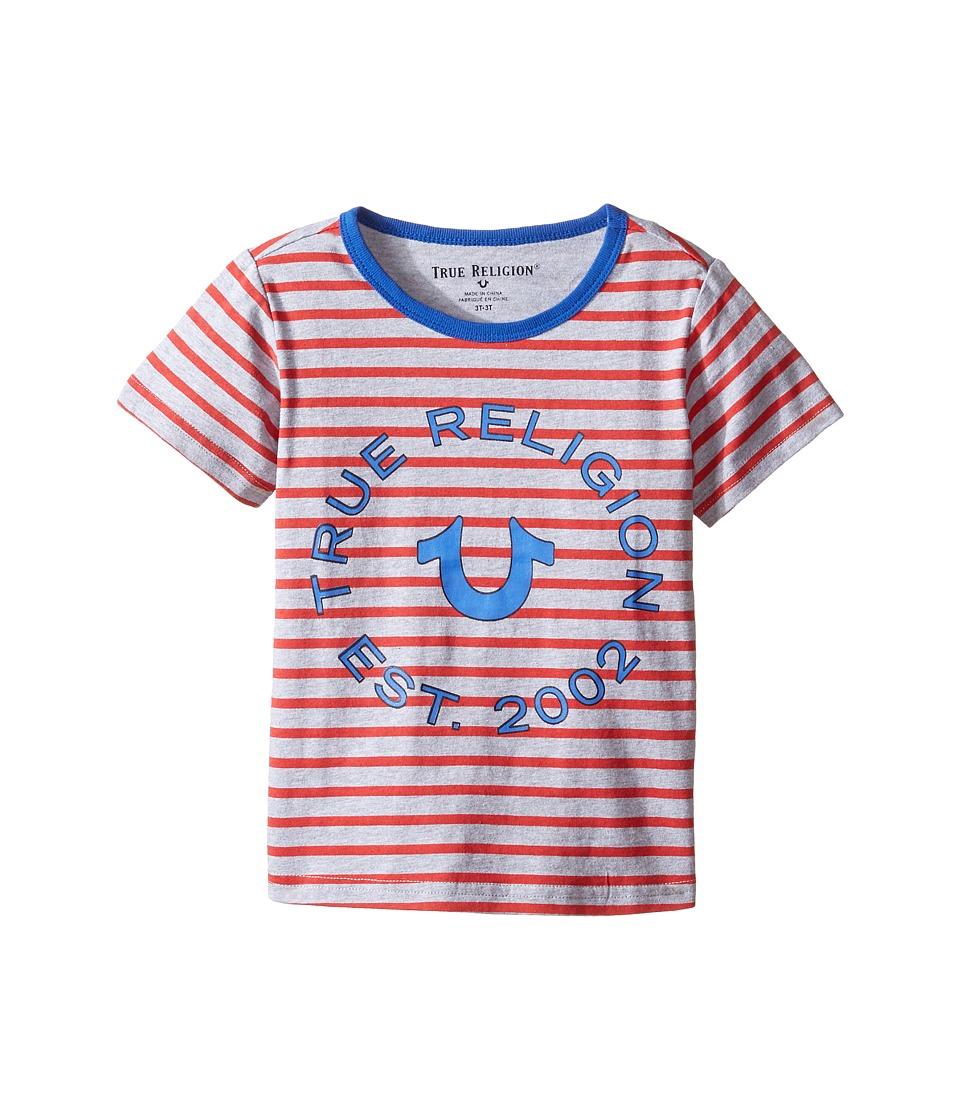 True Religion Kids - Heather Jersey Stripe Tee (Toddler/Little Kids) (Bright Red) Boy's T Shirt