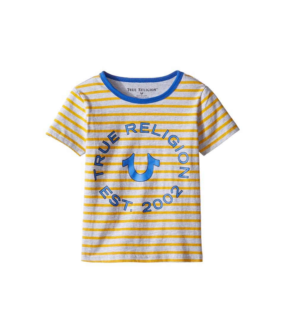 True Religion Kids - Heather Jersey Stripe Tee (Toddler/Little Kids) (Bright Yellow) Boy's T Shirt