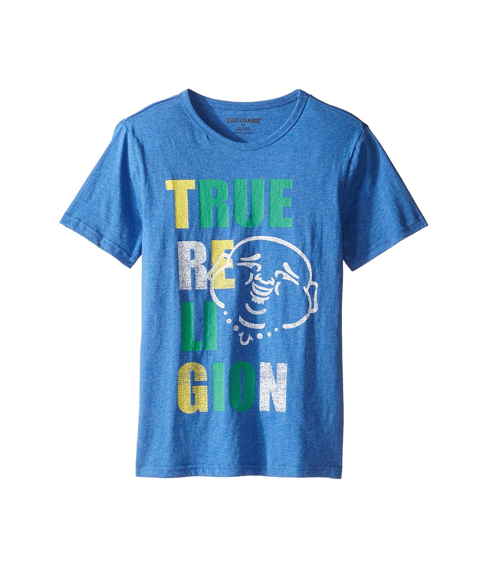 True Religion Kids - Buddha Pop Tee (Big Kids) (Bright Blue) Boy's T Shirt