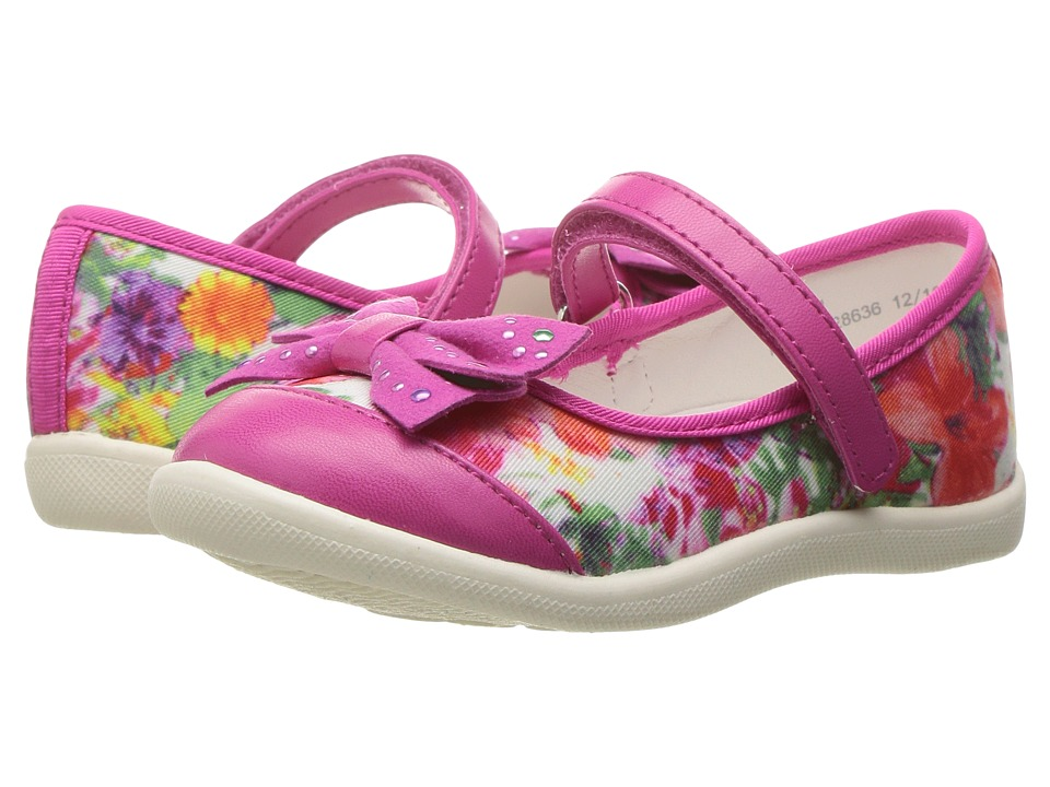W6YZ - Angela (Toddler/Little Kid) (Floral) Girl's Shoes