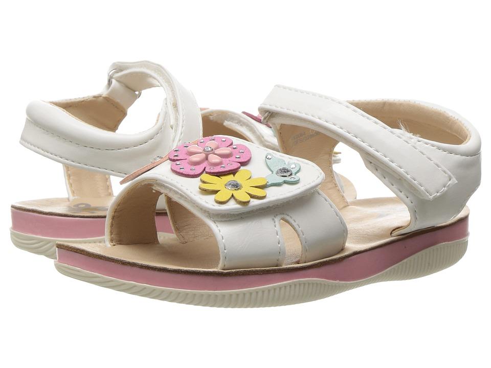 W6YZ FK006-1B (Toddler/Little Kid) (White) Girls Shoes