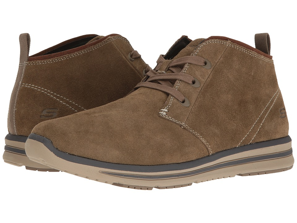 SKECHERS Relaxed Fit Doren Marcin (Light Brown) Men