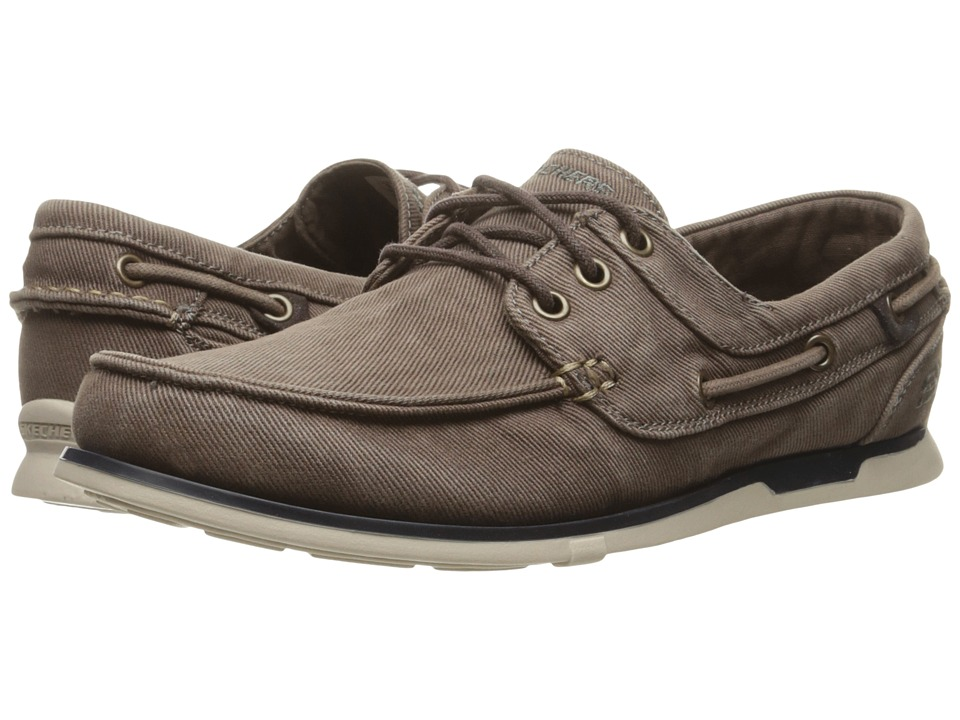 SKECHERS Relaxed Fit Eris Inaldo (Brown Canvas) Men