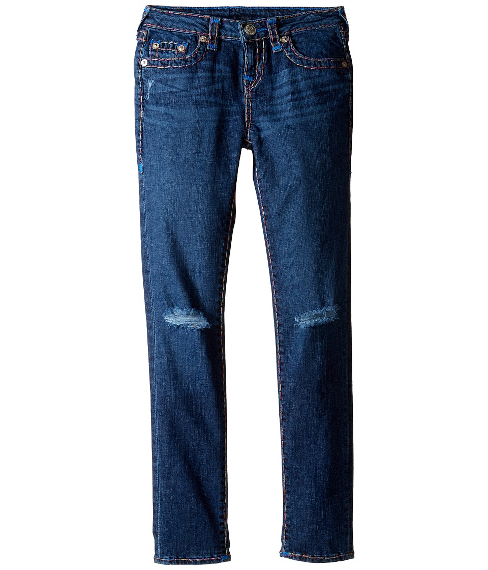True Religion Kids - Casey Rainbow Combo Super T Jeans (Big Kids) (Planet Blue Wash) Girl's Jeans