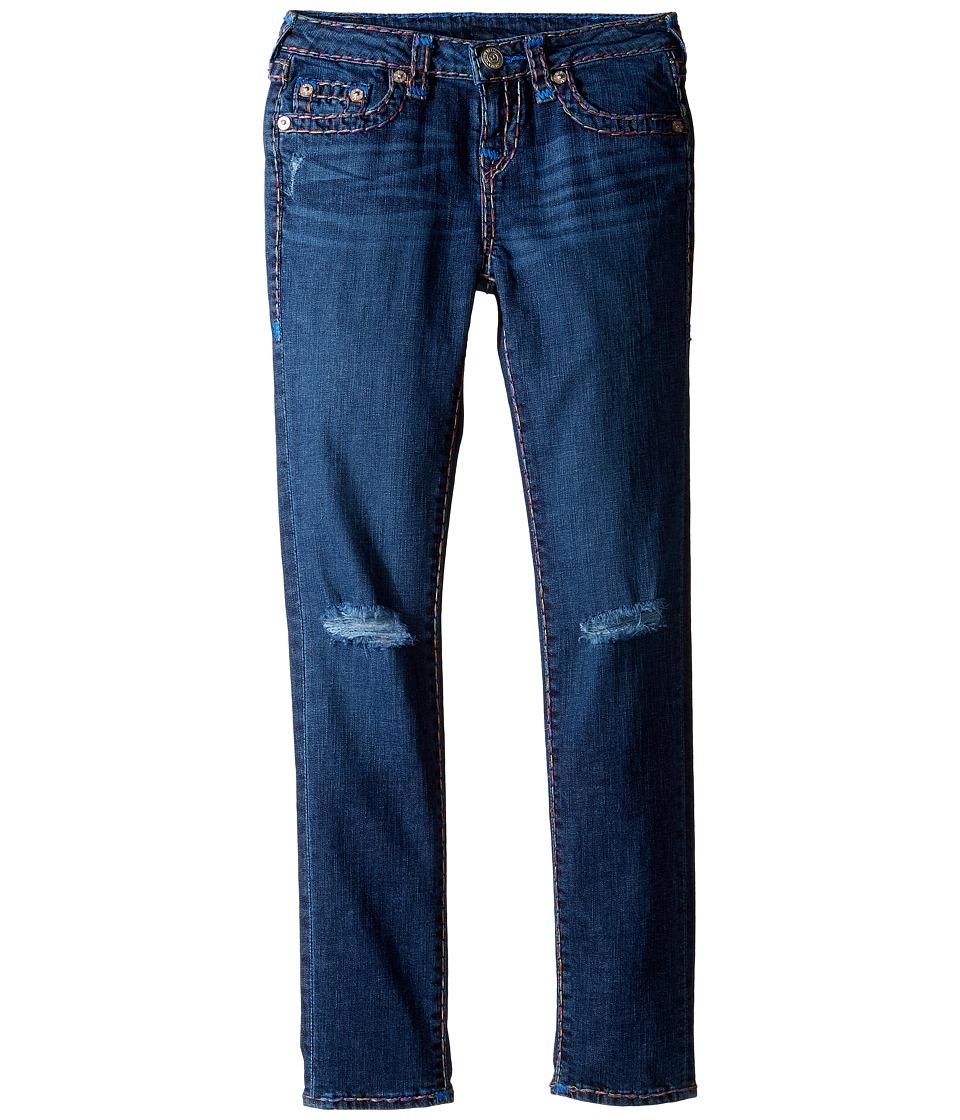 True Religion Kids Casey Rainbow Combo Super T Jeans (Big Kids) (Planet Blue Wash) Girl