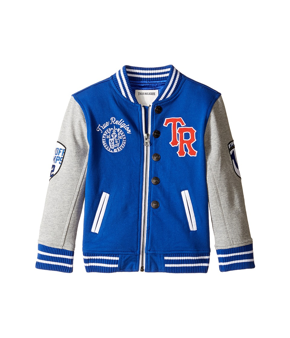 True Religion Kids - Letterman Jacket (Toddler/Little Kids) (Bright Blue) Boy's Coat
