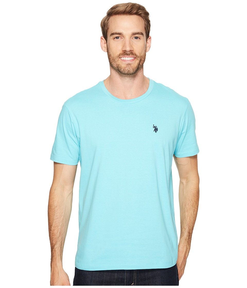 U.S. POLO ASSN. - Crew Neck Small Pony T-Shirt (Painters Aqua) Men's Short Sleeve Pullover