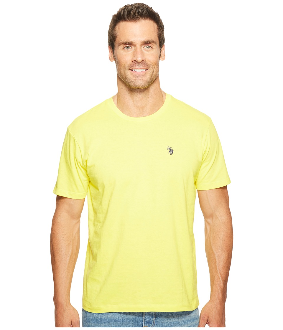 U.S. POLO ASSN. - Crew Neck Small Pony T-Shirt (Yellow Pop) Men's Short Sleeve Pullover