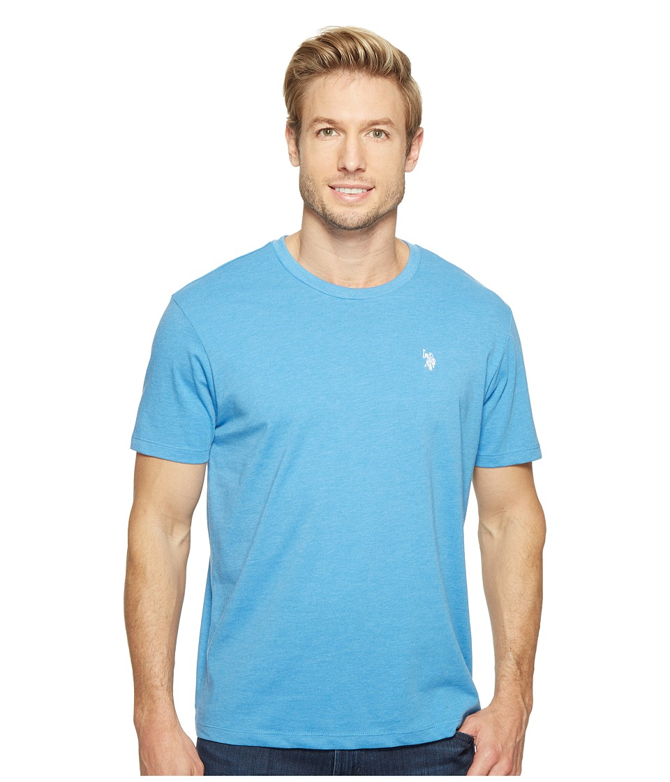 U.S. POLO ASSN. - Crew Neck Small Pony T-Shirt (Ocean Heather) Men's Short Sleeve Pullover