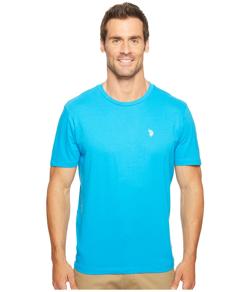 U.S. POLO ASSN. - Crew Neck Small Pony T-Shirt (Flip-Flop Blue) Men's Short Sleeve Pullover