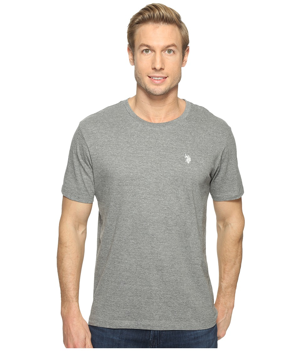 U.S. POLO ASSN. - Crew Neck Small Pony T-Shirt (Campus Heather Grey) Men's Short Sleeve Pullover