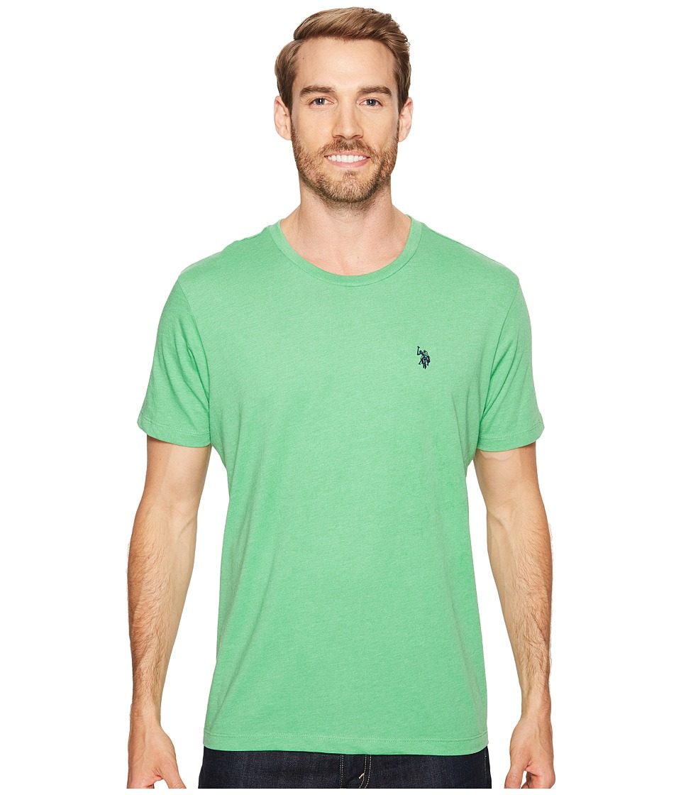 U.S. POLO ASSN. - Crew Neck Small Pony T-Shirt (Grass Heather) Men's Short Sleeve Pullover