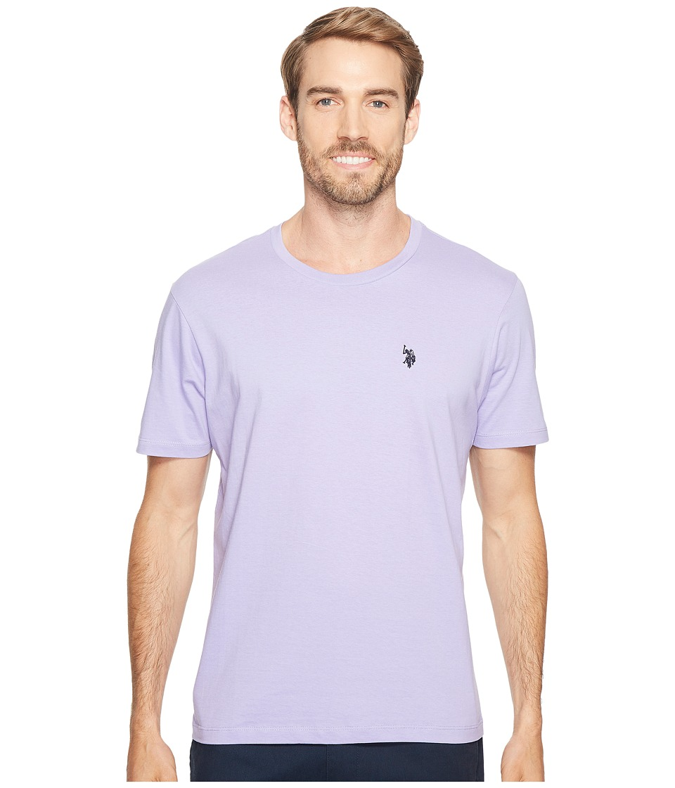 U.S. POLO ASSN. - Crew Neck Small Pony T-Shirt (Violet Sky) Men's Short Sleeve Pullover