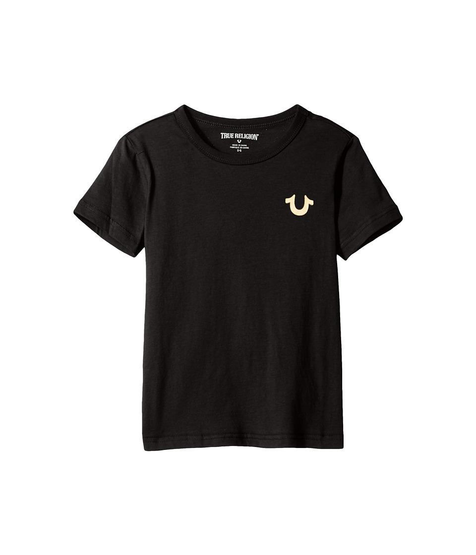 True Religion Kids - Gold Buddha Logo Tee (Toddler/Little Kids) (Black) Boy's T Shirt